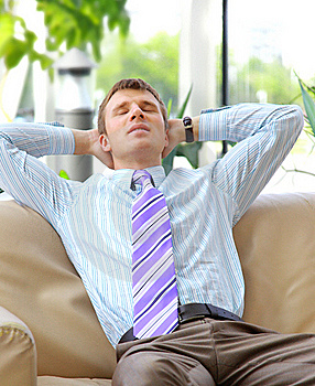 Young Relaxed Business Man Stock Image - Image: 18285991