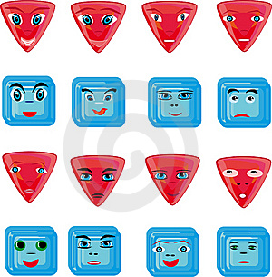 Animation Red And Blue Buttons Royalty Free Stock Photography - Image: 18286687