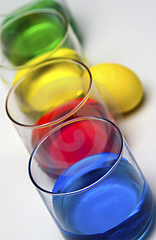 Dyeing Easter Eggs Royalty Free Stock Photo - Image: 18289765