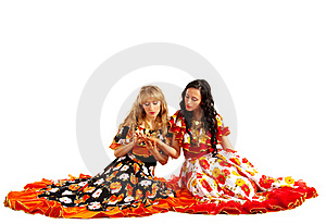 Two Gypsy Woman Make A Fortune-telling Royalty Free Stock Photography - Image: 18290107