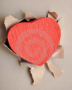 Torn Paper Heart Royalty Free Stock Photo - Image: 18290365