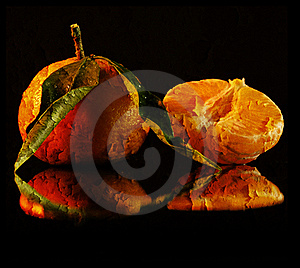 Texture Wrinkled Orange On Black Background Royalty Free Stock Photos - Image: 18291298