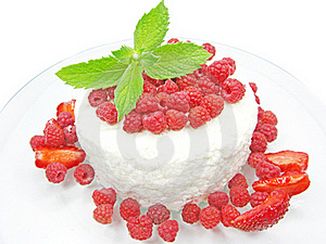 Raspberry Dessert With Pudding Stock Image - Image: 18293991