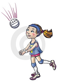 Volleyball Girl Athlete Stock Photos - Image: 18296173