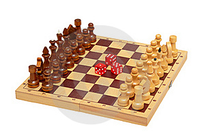 The Chess And Dice Royalty Free Stock Photo - Image: 18296995