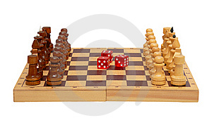The Chess And Dice Royalty Free Stock Image - Image: 18296996