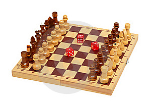 The Chess And Dice Stock Photos - Image: 18297063