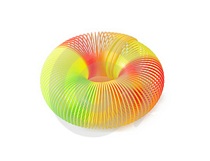Plastic Spring Toy Royalty Free Stock Images - Image: 18297129