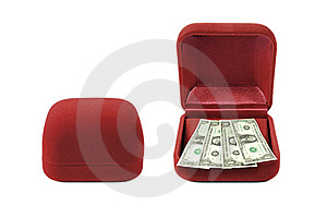 Red Velvet Box Money Red Velvet Box Money Stock Photos - Image: 18297643