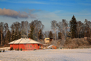 House In Winter Royalty Free Stock Image - Image: 18298146