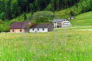 Village In Alps Royalty Free Stock Photography - Image: 18298367