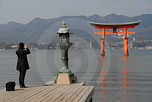 Floating Torii Gate Stock Images - Image: 1833674