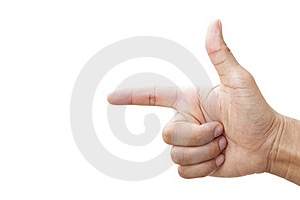 Index Finger And Hand Royalty Free Stock Photo - Image: 18300195