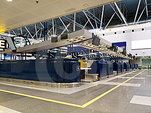 Airport Check-in Counters Stock Photo - Image: 18300390