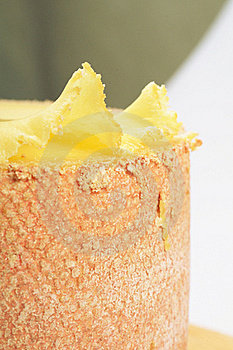 Decorated Cheese On Girolle Stock Image - Image: 18305221