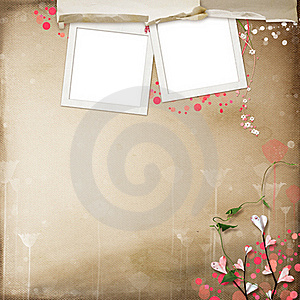 Layout With Frames For Photos Royalty Free Stock Photos - Image: 18305418
