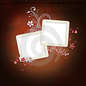 Layout With Frames For Photos Stock Image - Image: 18305501