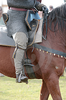 Warrior Astride A Horse Royalty Free Stock Photos - Image: 18306428
