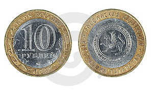 Two Sides Of The Coin Ten Rubles Royalty Free Stock Images - Image: 18306849