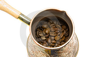 Turk And Coffee Beans Stock Image - Image: 18313331