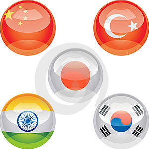 Flag Buttons Royalty Free Stock Photos - Image: 18314728