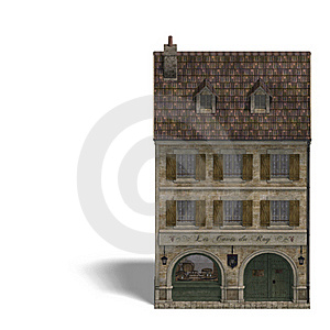 City Building Wine Store Royalty Free Stock Image - Image: 18315156