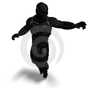 Science Fiction Male Character In Futuristic Royalty Free Stock Image - Image: 18315316