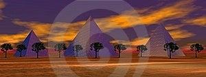 Landscape Pyramids Royalty Free Stock Image - Image: 18316376
