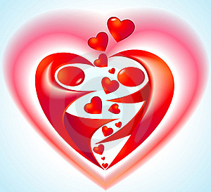 Icon With Heart Stock Images - Image: 18317694