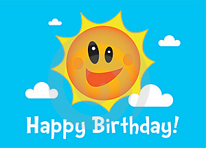 A Sunny Birthday Illustration Stock Images - Image: 18321714