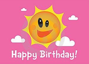 A Sunny Birthday Illustration Stock Photos - Image: 18321793