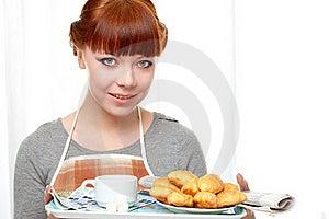 śniadaniowa Mienia Gospodyni Domowej Taca Zdjęcia Stock - Obraz: 18322763