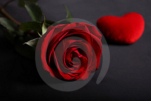 Rose With Heart Royalty Free Stock Images - Image: 18323859