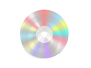 Single Disc Cd Dvd Isolated Stock Images - Image: 18324304