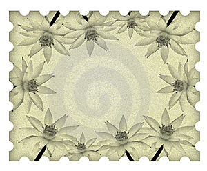 Image Lotus Flower Frame On Old Paper Royalty Free Stock Photo - Image: 18324515