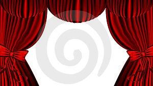 Red Curtain Stock Photos - Image: 18325413