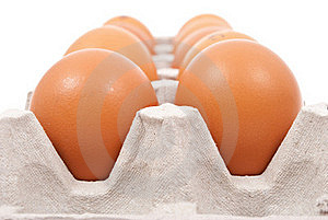Brown Eggs In Box Stock Photo - Image: 18325420