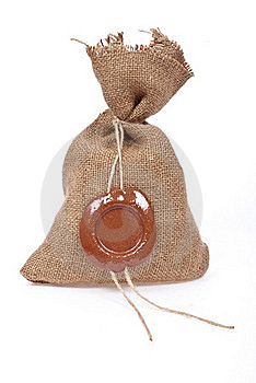Sack With Sealing-wax Stock Images - Image: 18325494