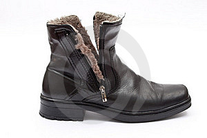 Black Winter Boot Royalty Free Stock Photo - Image: 18325855