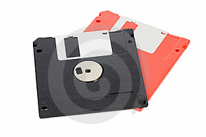 Floppy Disks Isolated On White Royalty Free Stock Images - Image: 18326069