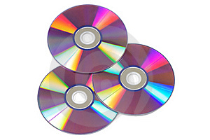 CD/DVD Isolated On White Stock Image - Image: 18326071