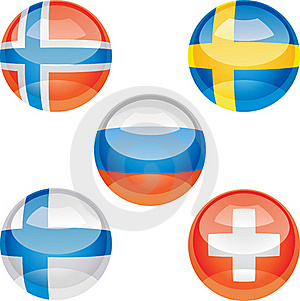 Flag Buttons Royalty Free Stock Photography - Image: 18326357