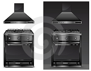 Black Gas Cooker Over Stock Photos - Image: 18327053