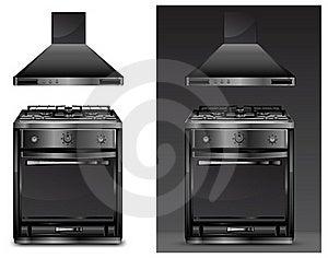 Black Gas Cooker Over Stock Photos - Image: 18327053