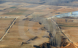 Aerial View Of The Fields Stock Photo - Image: 18328160
