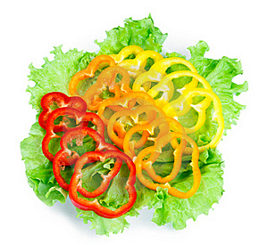 Mix Of Fresh Vegetables From A Colored Paprika Royalty Free Stock Photo - Image: 18328485