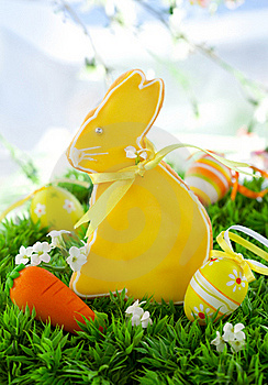 Easter Bunny Cookie Stock Images - Image: 18328564