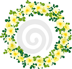 Yellow  Wreath Royalty Free Stock Image - Image: 18329176
