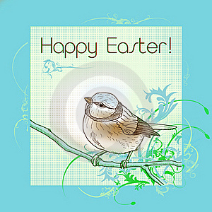 Happy Easter Bird Stock Images - Image: 18330474