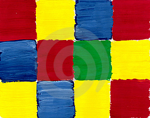 Colorful Rough Paint Samples Checker Royalty Free Stock Photos - Image: 18330518